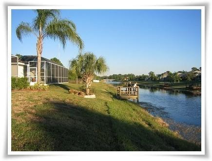 Fishing dock at rear of villa - Restful location, backing onto a waterway - Rotonda West - rentals