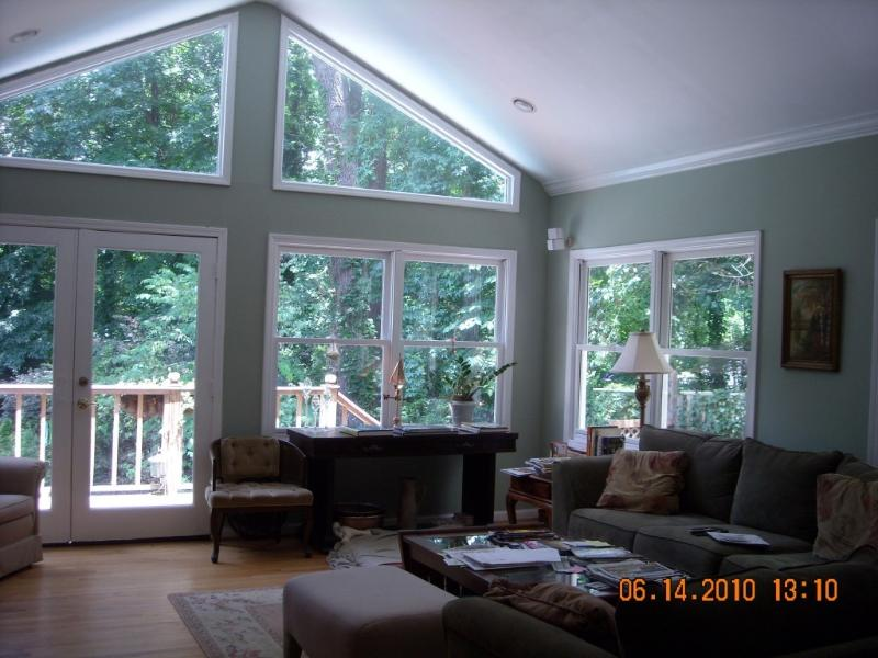 Family Room view to pool/woods - EXCLUSIVE! BUSINESS/VACATION! ALL SEASONS! - Atlanta - rentals
