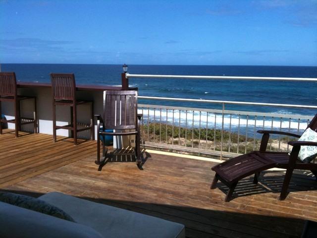 Private deck in the second floor - Ocean Front PH-At Jobos Beach & near Shacks Beach - Isabela - rentals