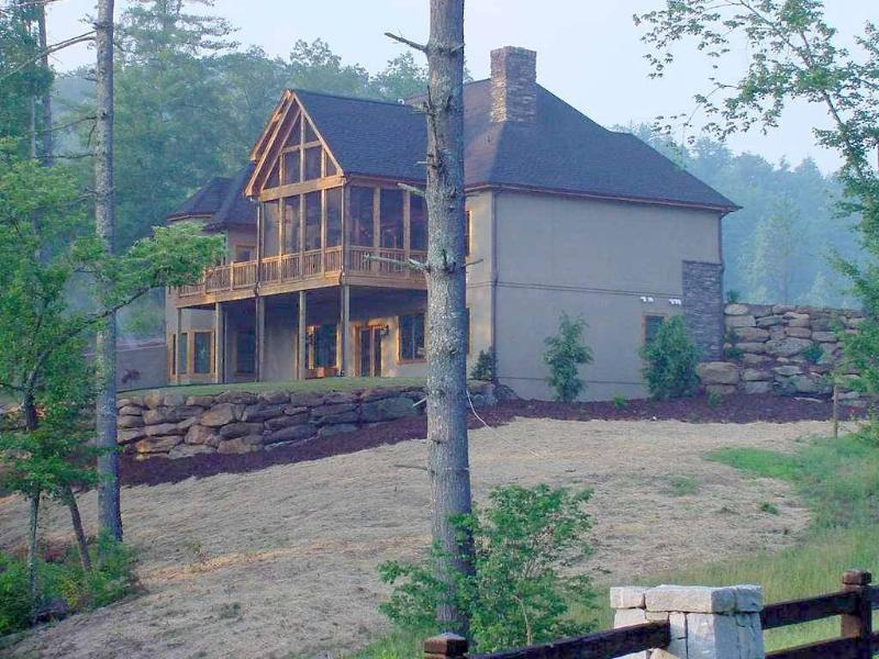Back of Home and Decks - MILLIONAIRE'S CHATEAU COUNTRY LAKEHOUSE - Sunset - rentals