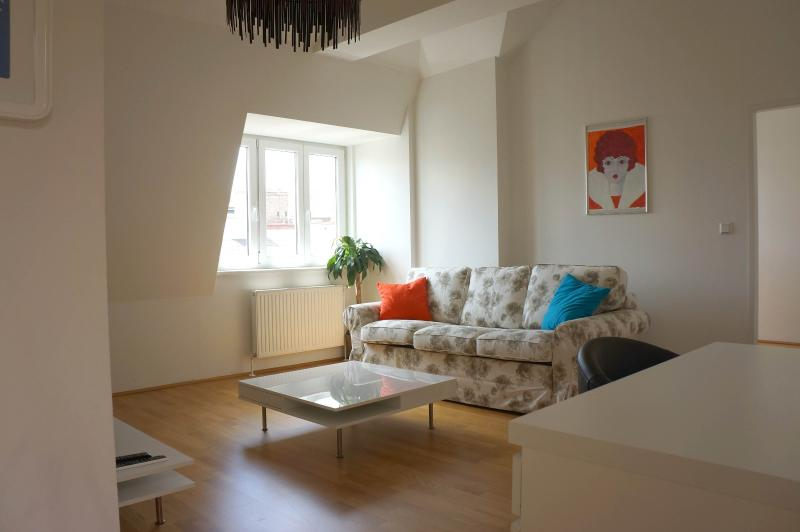 Living room with sofabed - Nice roof-top 2 bedroom apartment - Vienna - rentals