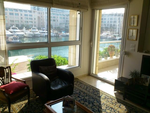 Living room view to marina lagoon - THE ISLAND 2/3 bedroom apartment on the sea - Herzlia - rentals