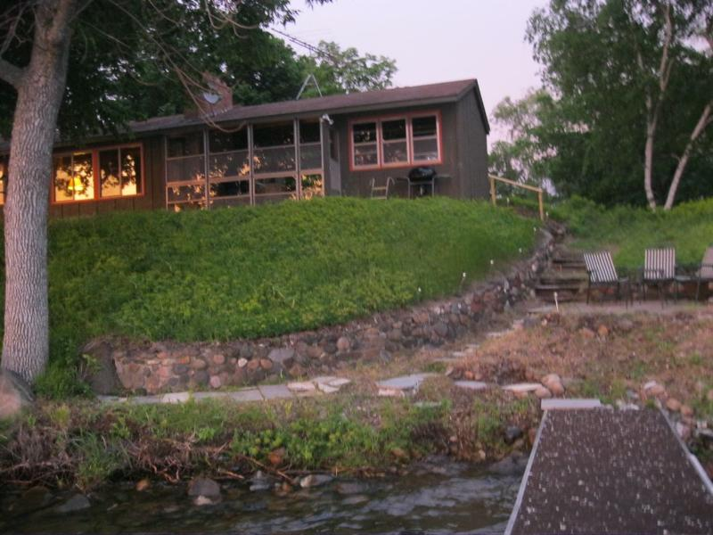 dock view at sunset - Vintage vacation cabin on beautiful Sugar Lake - Annandale - rentals
