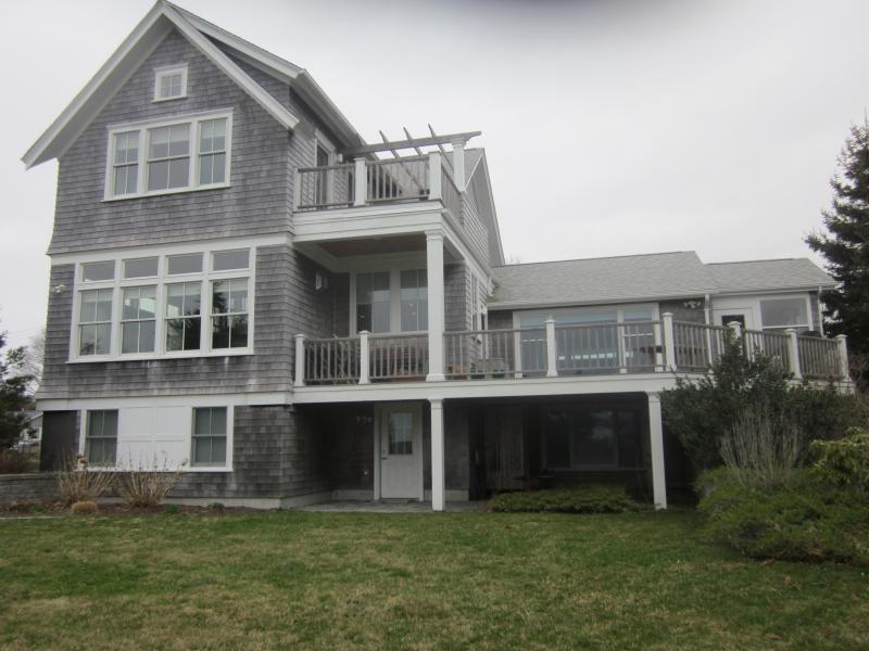 Back of the house - facing water - Elegant, Spacious, Modern Home with Water Views - South Kingstown - rentals