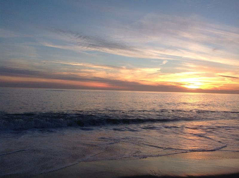 Sunset from front deck - Spectacular oceanfront setting - Nantucket - rentals