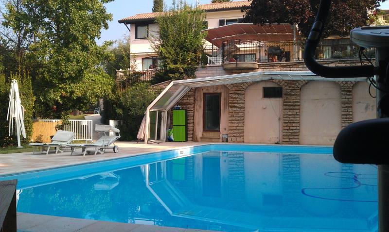 view of swimmingpool 17x8 meters - villa Isidoro - Verona - rentals