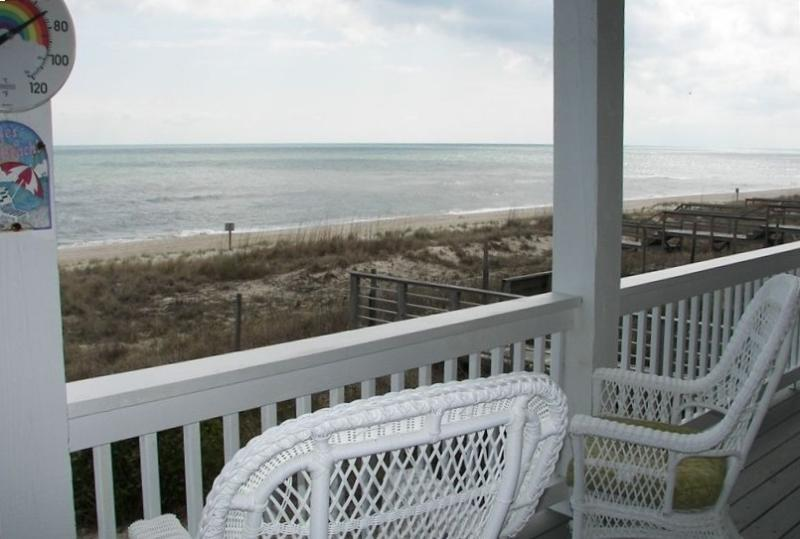 Sit and relax to the sounds of the surf and the ocean breezes - SALE$$$:Oceanfront Beauty-3000 ft House,Wifi,Grill - Kure Beach - rentals
