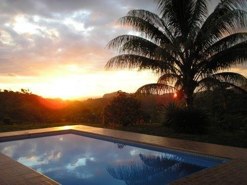 sunset from pool area - Villa Ojochal-Ocean/Mountain Views & breezes - Ojochal - rentals