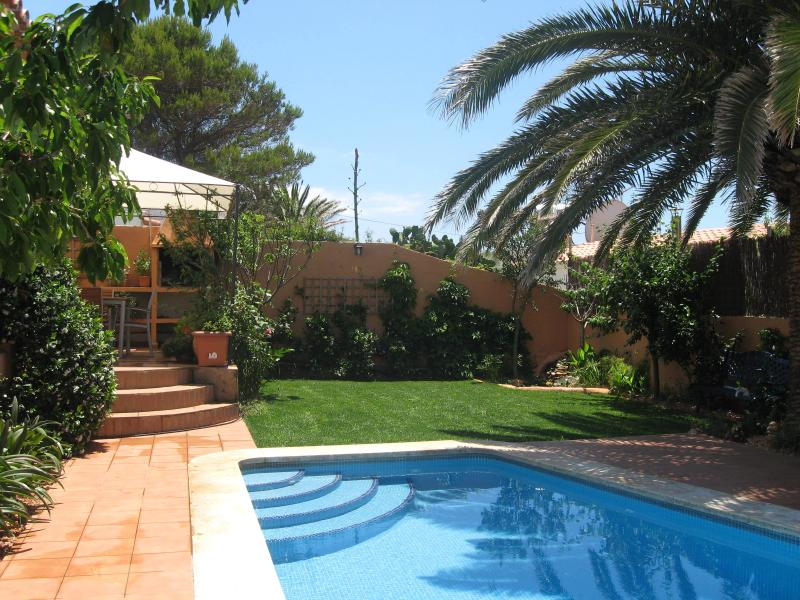 Back garden and pool - Los Cerezos - Cala'n Porter - rentals