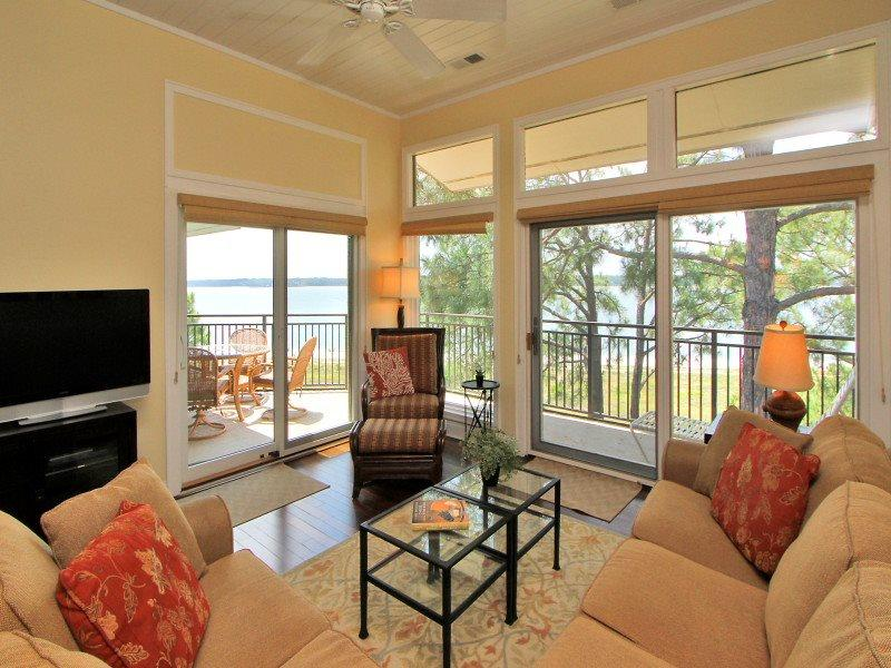 Living Room with Panoramic Views at 1900 Beachside Tennis - 1900 Beachside Tennis - Hilton Head - rentals