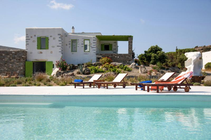 Stone made villa with private pool & stunning view - Image 1 - Parikia - rentals
