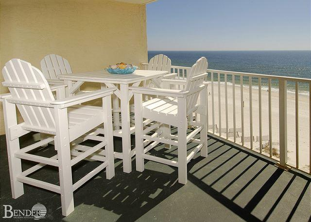 Balcony - Clearwater 8C ~ Charming Beachfront Condo ~ Bender Vacation Rentals - Gulf Shores - rentals