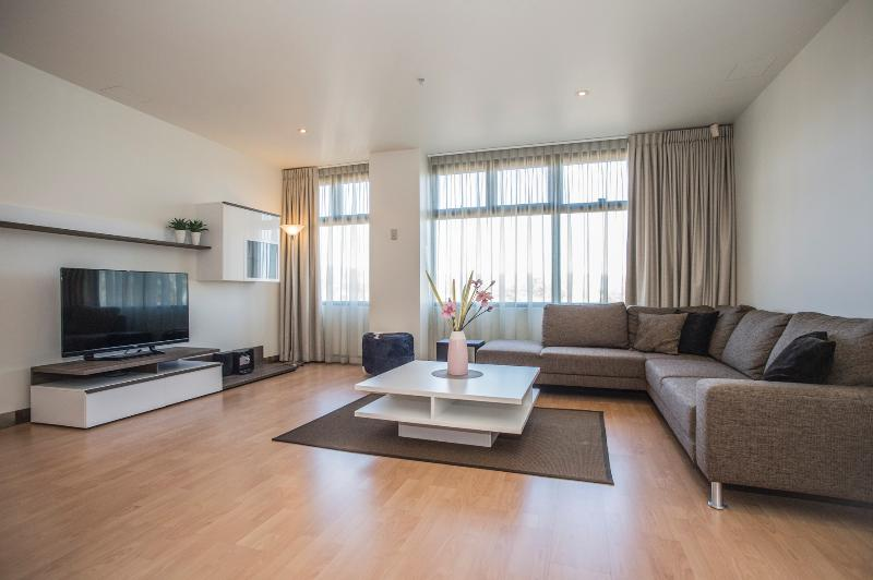 Main living area - views across to the Adelaide HIlls - Adelaide City - Executive Apartment - Adelaide - rentals