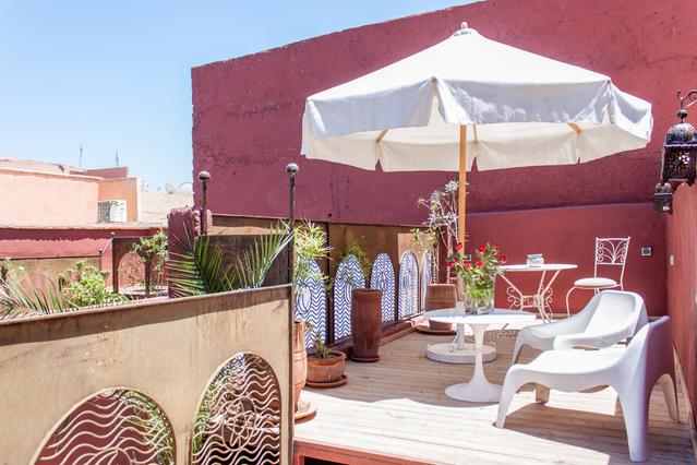 Terrace - Riad Moulaty - 3 minutes to Jemaa El Fna - Private - Marrakech - rentals