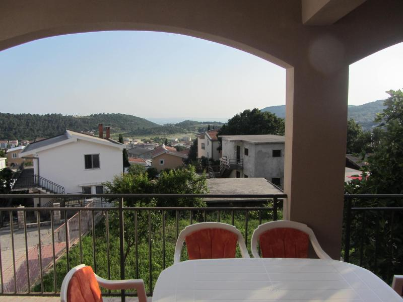 terrace table and view - House for rent,with sea view, Sutomore, Montenegro - Sutomore - rentals