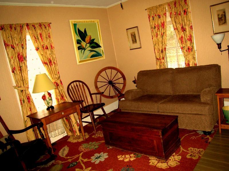 Living Room at Wildflower Cottage in Eureka Springs - Wildflower Cottage in Eureka Springs - Eureka Springs - rentals