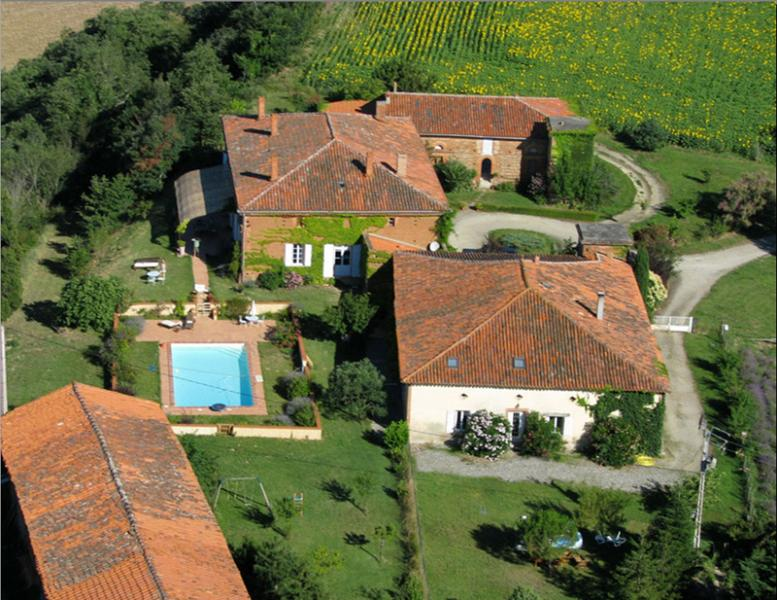 sky view - House with swimming pool, panoramic view - Toulouse - rentals