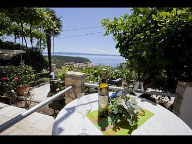 Citrus (3+1): terrace view - 5494  Citrus (3+1) - Makarska - Makarska - rentals