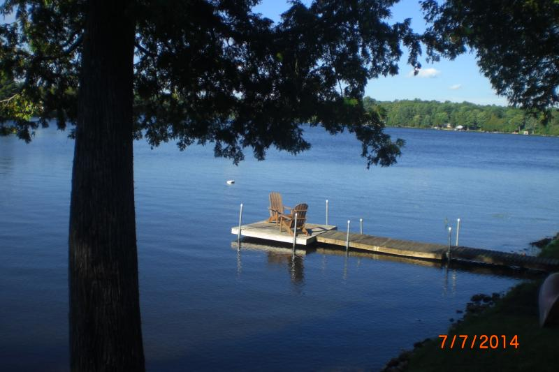 dock view from the upper deck - Quaint Cottage on a Lovely Waterfront Property, cl - Minden - rentals
