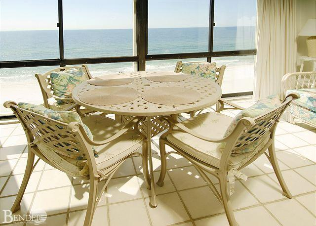 Glass Enclosed Balcony - Edgewater West 95 ~Fabulous Gulf Views ~ Bender Vacation Rentals - Gulf Shores - rentals