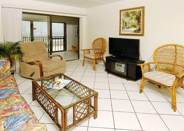 Living Room - Gulf Tower 6C ~Access the Balcony From Master Bedroom~Bender Vacation Rentals - Gulf Shores - rentals