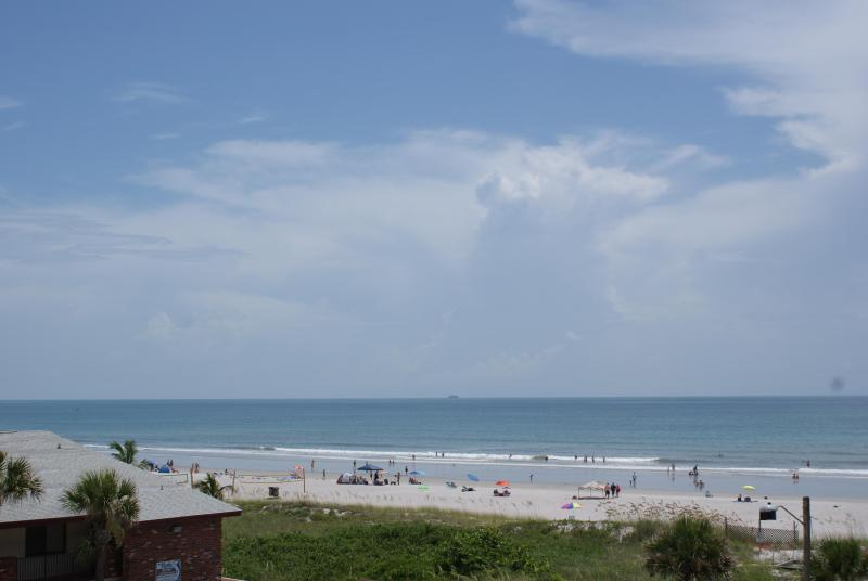 Beach View from Balcony / Patio - Relaxing Beach Escape Condo - May Rates Discounted - Cocoa Beach - rentals