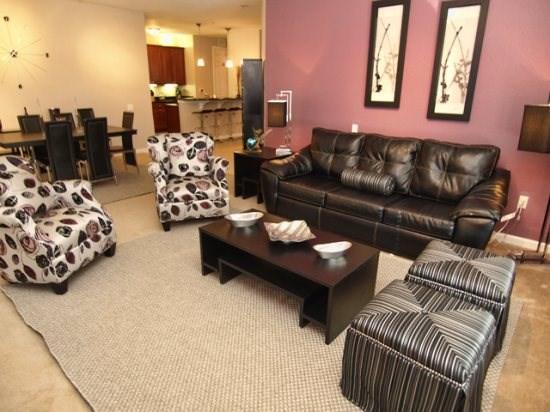 Living Area - VC3C5037-107 3 BR Dream Condo in the Heart of Orlando - Orlando - rentals