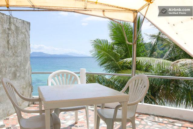 Terrace 2nd Floor from Bedroom - Aldanmar Apartments Red - on the beach - Puerto Galera - rentals