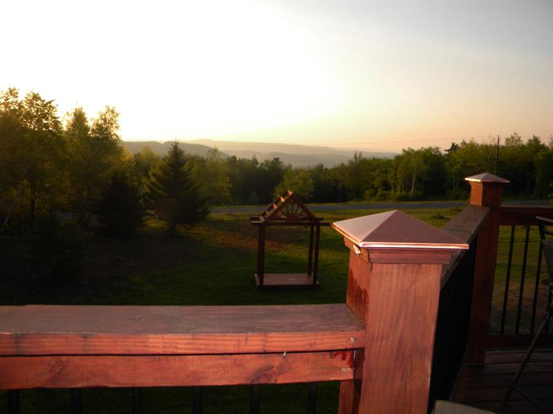Sunrise on the deck at the Rose and Goat - Berkshires Mountain Top Lodge- Rose & Goat Retreat - North Adams - rentals