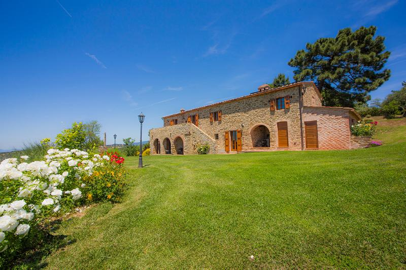Il Cipresso apt in farmhouse Casa Contea with pool - Image 1 - Cortona - rentals