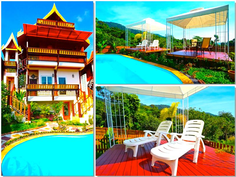Villa Siam Lanna at Golden Pool Villas - Sea Views -5 mins walk to Kantiang Bay! - Image 1 - Ko Lanta - rentals