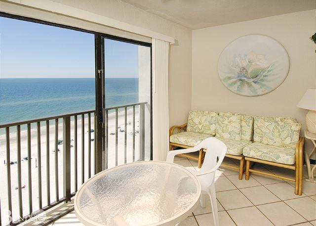 Balcony - Gulf Tower 9D ~ Vibrant and Colorful Beachfront Condo~Bender Vacation Rentals - Gulf Shores - rentals