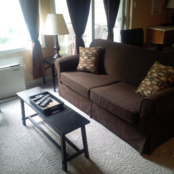 Living area with pullour sofabed with mountain view - Hillside Studio 1, sleeps 4 w/ Full Kitchen - Collingwood - rentals