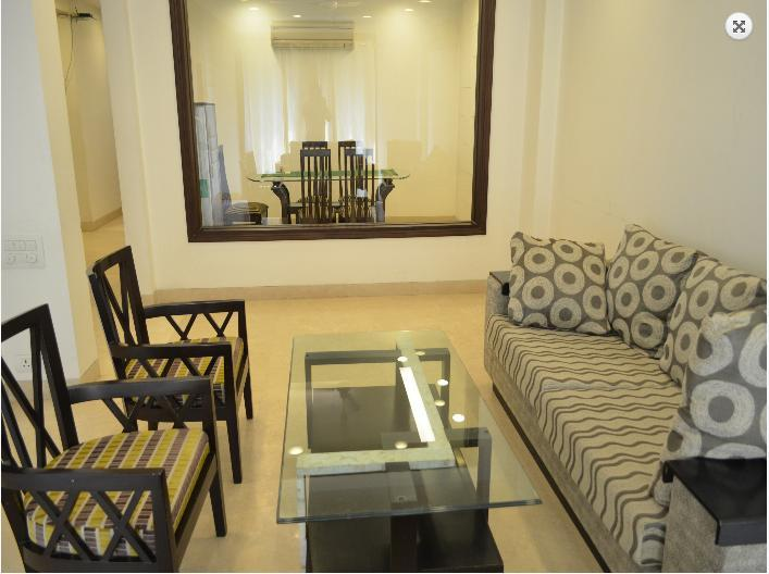 Living Area - Absolute luxury and Comfort furnished 3 Bhk Apartment - New Delhi - rentals