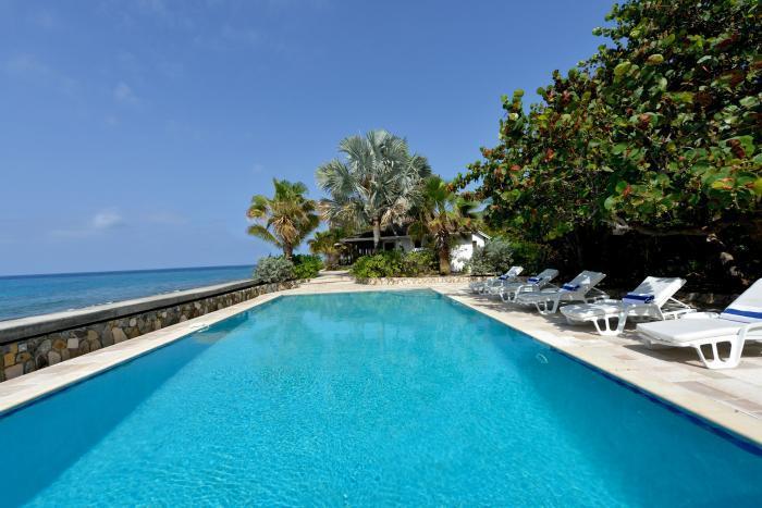 Blue Beach at Baie Long Beach, Saint Maarten - Beachfront, Pool, Sunset View - Image 1 - Terres Basses - rentals