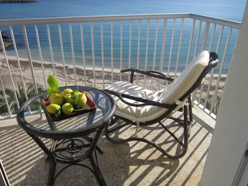 front balcony - Seafront Apartment - Santa Eulalia del Rio - rentals