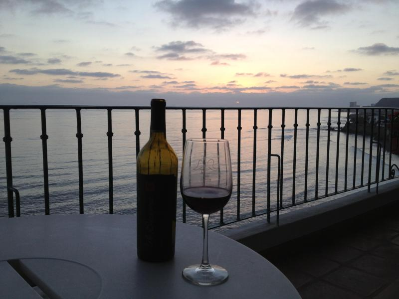 Toasting the Sunset Ocean Front! - SEE VIDEO..Crashing Waves off your 24 ft.Veranda - Rosarito - rentals
