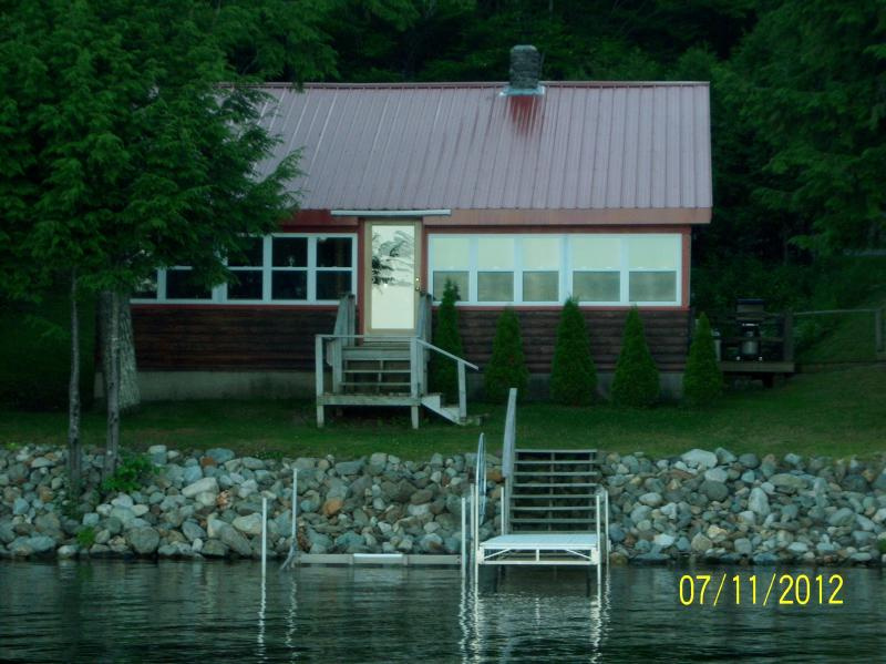 view from water - Pleasant Pond Waterfront Rental - Island Falls - rentals