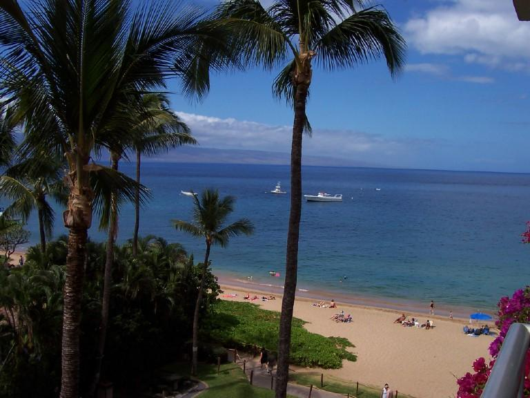 View from our lanai - Maui One Bedroom Ocean Front Condo - Lahaina - rentals
