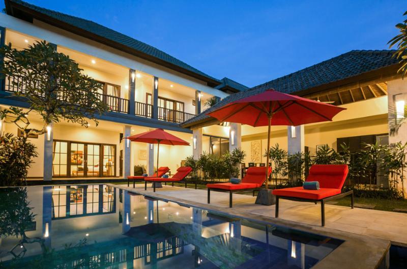 Evening Photo of private pool villa - Villa Echo Beach: 250 mts to Echo Beach, priv.pool - Canggu - rentals