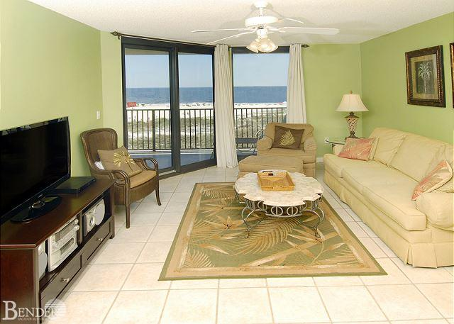 Living Room - Phoenix VI 6404 ~ Luxurious Condo with Corner Balcony~Bender Vacation Rentals - Orange Beach - rentals
