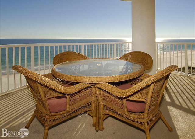 Balcony - Island Royale 806 ~ West Corner Beachfront Condo ~Bender Vacation Rentals - Gulf Shores - rentals