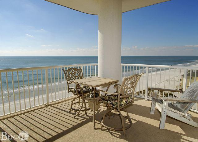 Balcony - Island Royale 906 ~ West Corner Beachfront Condo~Bender Vacation Rentals - Gulf Shores - rentals