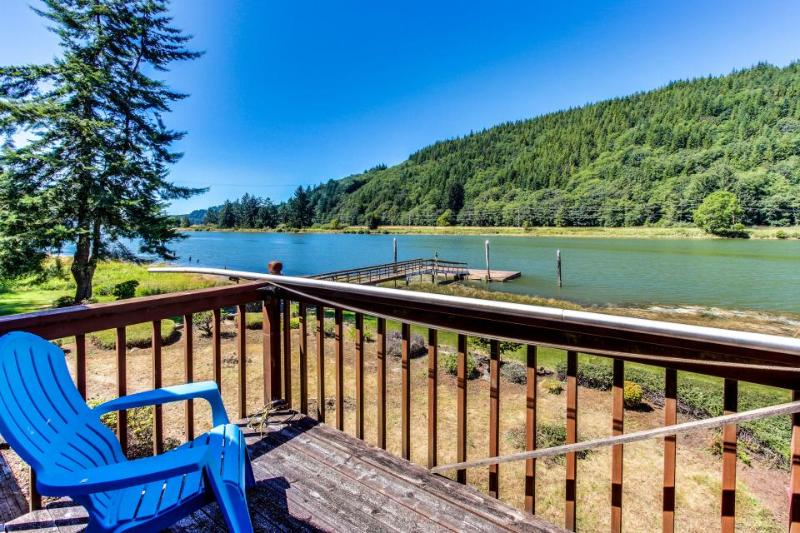 Stylish riverfront home w/ floating boat dock & a dog-friendly attitude! - Image 1 - Waldport - rentals