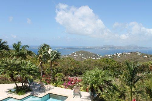 Spend time relaxing with this panoramic view from your luxury 3 bedroom Villa  - Villa Del Sol - U.S. Virgin Islands - rentals