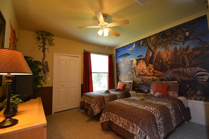 Kids themed bedroom - Fun Jungle Safari Condo Rental, near Walt Disney World - Kissimmee - rentals