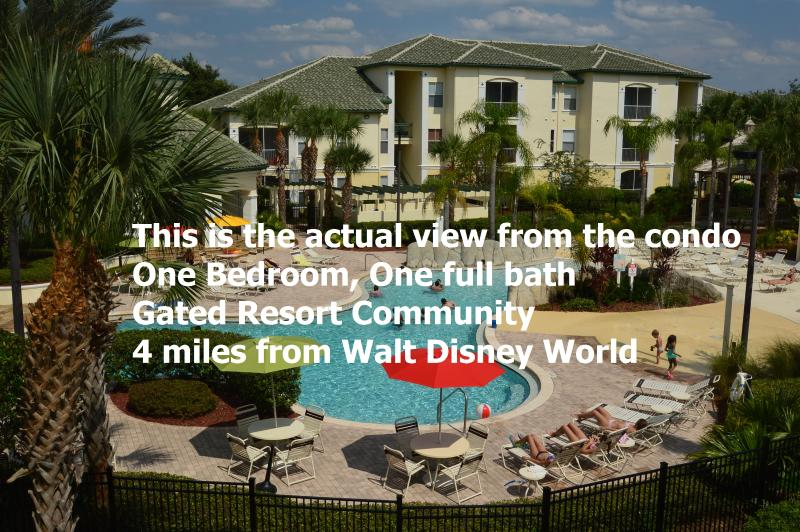 GREAT VIEW from the balcony! - Poolside Zen themed 1BR condo near Disney World - Kissimmee - rentals