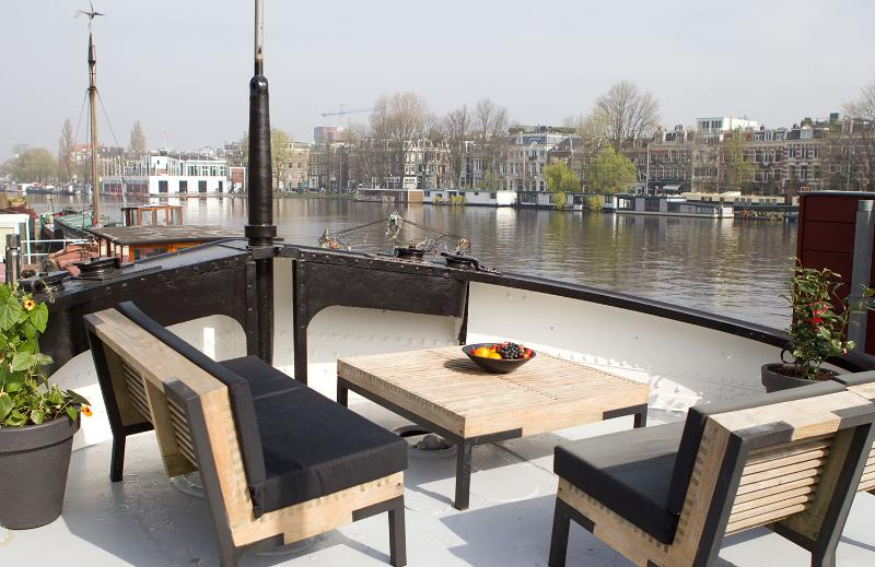 Sun deck - Amstel River Houseboat - Amsterdam - rentals
