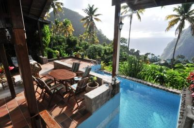 Hermitage Terrace: Piton and Ocean views - Image 1 - Soufriere - rentals