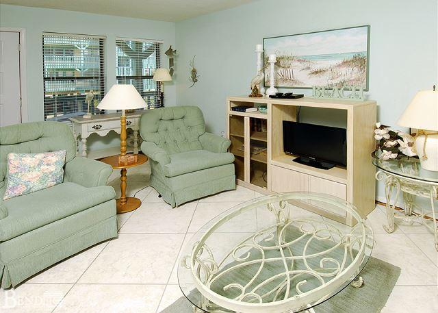 Living Room - Sea Breeze 103 ~ Inviting Family Condo ~ Bender Vacation Rentals - Gulf Shores - rentals